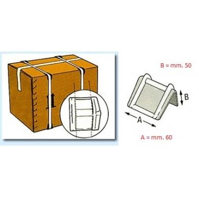 Angolari in plastica 60 x 50 - SCATOLE DA 1000 PZ