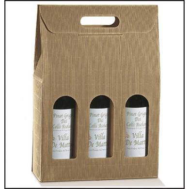 Confezione per 3 bottiglie. Modello: ONDA AVANA