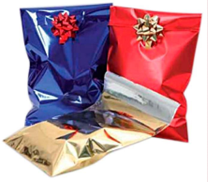 Sacchetti regalo metallizzati