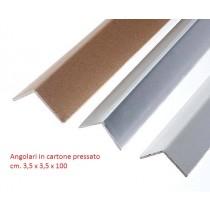 angolari in cartone pressato cm. 3,5 x 3,5 x 100 - Spessore 4 mm. - CONFEZIONI DA 20 PZ