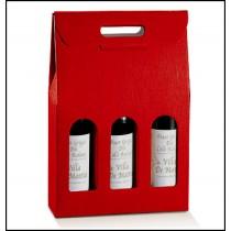 Confezione per 3 bottiglie. Modello: seta rossa