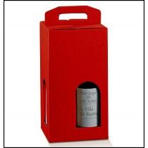 Confezione per 4 bottiglie. Modello: seta rosso