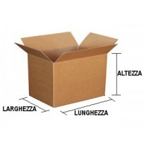 scatola a 1 onda. cm.  45 X 32 X 10.  cod.B