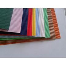 FOGLI CARTONCINO MICRONDA ZIGRINATO COLORATI  cm 70 x 100