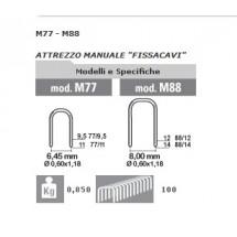 PUNTI METALLICI 88/14 PER FISSATRICE CAVI M88 -CONFEZIONE DA 1000 PUNTI.-