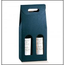 confezione per 2 bottiglie. Modello: Juta blu