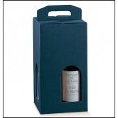 Confezione per 4 bottiglie. Modello: juta blu
