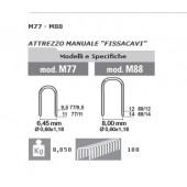 PUNTI METALLICI 88/12 PER FISSATRICE CAVI M88 -CONFEZIONE DA 1000 PUNTI.-